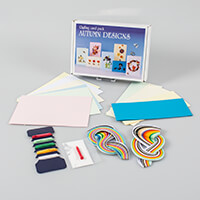 Autumn Greetings Cards Kit - Includes Patterns, Quilling Papers,T-303763