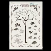 Chocolate Baroque Glade Design a Tree A6 Stamp Sheet - 17 Images-304754