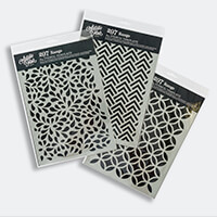 Artistic Flair Set of 3 Pick 'n' Mix A4 Stencils-306678
