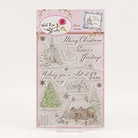 Wild Rose Studio 1 x A5 Stamp Set - Winter Cottages - 16 Stamps i-307470