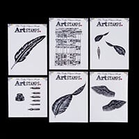 Bee Crafty Art Stamps - Feather Collection-308937