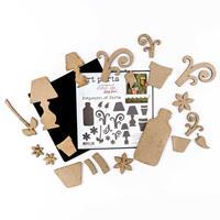 Art Parts - Studio 490 MDF Set - Pot Pourri of Parts - 20 Pieces -311986