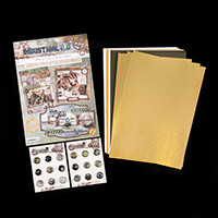 Studio Light Industrial A4 Cardmaking Book with 18 Brads & 20 She-312145