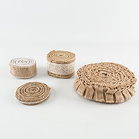 Craft Buddy 20m of Jute and Lace Trimming-313821