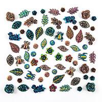 Dawn Bibby Set of 72 Fantasy Resin Embellishments-315752