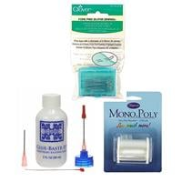 Oh Sew Sweet Shop Essentials Bundle - Glue, Fork Pins, Invisible -317008