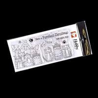 Hobby Art Santa Paws DL Clear Stamp Set - 9 Stamps-317682