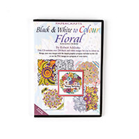 Robert Addams Black & White to Colour Floral CD-Rom-317924