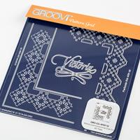 Groovi Queen Lace Duet A5 Square Plate - Victoria-318486