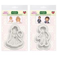 Sugar Buttons - Bride & Groom Silicone Mould Collection-318821