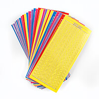 Luv Crafts 100 Sheets of Multi Coloured Border Stickers-323620