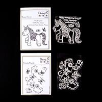 Nina Crafts Blossom Unicorn Flourish Stamp Set - 8 Stamps-325157