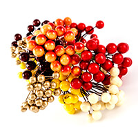 Craft Buddy 6 Bunches of Autumn Berry Embellishments-326519