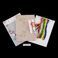 Permin Floral Tablecloth Cross Stitch Kit-328769