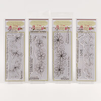 Which Craft? Book Mark Size Stamp Set of 4- 'You're Loved', 'Live-328910