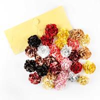 Craft Buddy Set of 30 Assorted Luxury Festive Flowers With Adhesi-330604