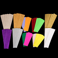 Craftworx 1kg of 20x6cm Assorted Colour Glitter Card Strips-331395