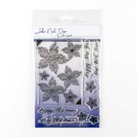 John Next Door Swirl Poinsettia Stamp Set - 9 Stamps-331671