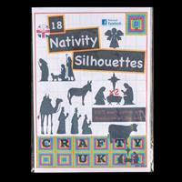Crafty UK Nativity Silhouettes x 18 Fabric Silhouettes with Bonda-331997