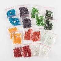 Oval Beads Set - 18 x Packs - 10x7mm - Assorted Colours - 900 Bea-332098