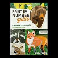 Paint By Number Quilts   4 Animal Appliques by Kerry Foster-333061