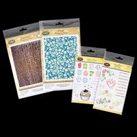 JustRite® 4 x Stamp Sets - Reversed Crackle, Butterfly Stamp, Vin-334151