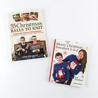 Search Press 2 x Christmas Knitting Books-334692