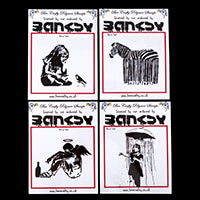 Bee Crafty 4 x Inspired by Banksy Stamps - Fallen Angel, Caught i-335136