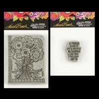 Stampendous 2 x Cling Stamps - Laurel Burch Floral Bouquet and A -335188