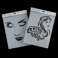 Imagination Crafts 2 x A4 Art Stencils - Reflection and Riviera G-335411