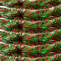 Set of 6 Christmas Two Tone Red & Green Tinsel - 300x25cm-337653