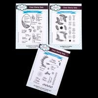 Creative Expressions 3 x Stamp Sets - Scribble Rose, Fern Frames -337669
