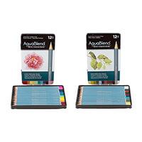Spectrum Aquablend Pencils - Earth Tones & Vivid Hues - 24 Pencil-339077