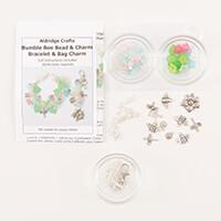 Aldridge Crafts Bumble Bee Bracelet & Bag Charm Kit-339413