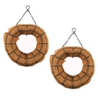 Heart Design Hanging Baskets with Chains - 2 Baskets Total-339806