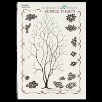 Chocolate Baroque Woodland Design a Tree A6 Stamp Sheet - 14 Imag-341549