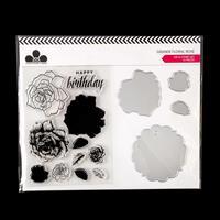 Craftwork Cards Grande Floral Die and Stamp Set - Rose - 4 Dies &-343557