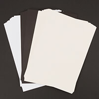 Eleganza 10 x A4 Card Stock White, Ivory & Black - 30 Sheets in T-346248