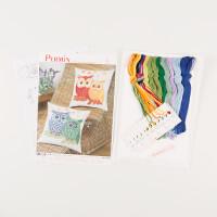 Permin Owl Cushions on AidaCross Stitch Kit-346320