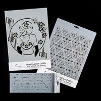 Imagination Crafts 2 x A4 Art Stencils - Pearl Lady & French Dama-346518