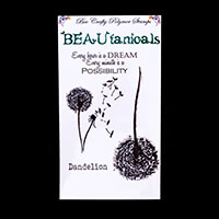 Bee Crafty BEAUtanicals Stamp Set - Dandelion - 4 Stamps Total-347194