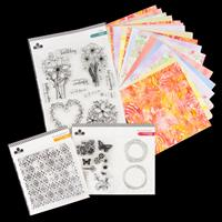 Craftwork Cards Inky Collection - 36 Sheets 8x8