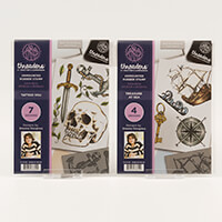 Threaders 2 x A5 Rubber Stamp Sheets - Tattoo You & Treasure at S-347436