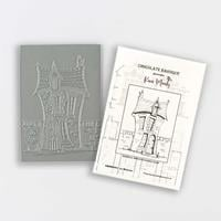 Chocolate Baroque La Maison A6 Rubber Stamp Designed by Kim Moody-352208