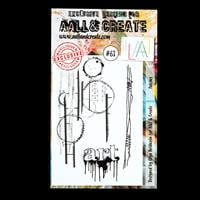 AALL & Create A6 stamp set - Patches - X Stamps-352322