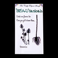 Bee Crafty BEAUtanicals Stamp Set - Teasels - 4 Stamps Total-352714