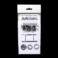 Bee Crafty Art Stamps Set - Texture, Film Strip & Circles - 5 Sta-353141