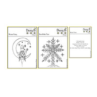 Nina Crafts Set of 3 Stamps - Winter Fairy, A Winter Poem & Snowf-354290