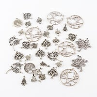 Impressions Crafts 70g Tibetan Silver Tree Charms / Pendants Pack-356146