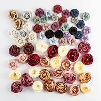 Dawn Bibby 3 Packs of Assorted Fabric Flowers - 63 Pieces Total-357398